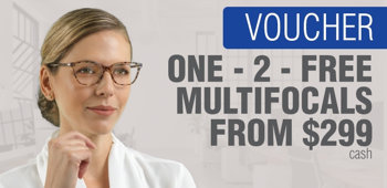 Picture of 2 Pairs of Multifocals from Just $299 In-store Voucher